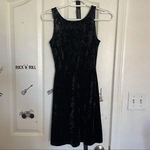 H&M Divided Black Velvet Dress Size 2